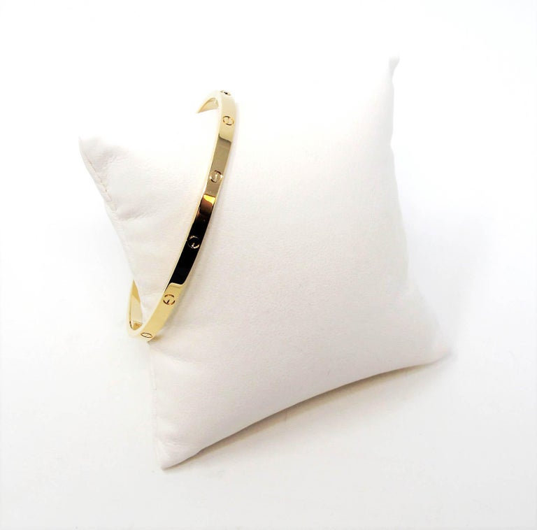Cartier Love Collection Small 18 Karat Yellow Gold Bangle Bracelet with Box 5