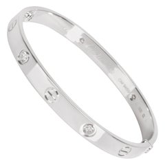 Cartier Love Diamond Bracelet in 18 Karat White Gold