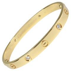 Cartier Love Diamond Bracelet in 18 Karat Yellow Gold