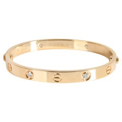 Cartier Love Diamond Bracelet in 18K Yellow Gold 0.42 CTW