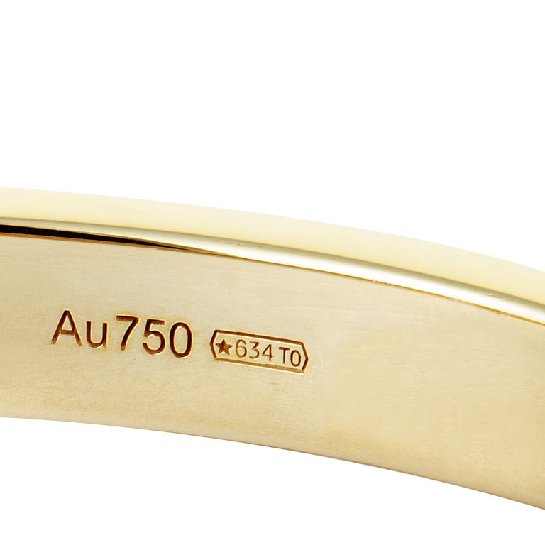 Cartier Love Diamond Yellow Gold Bangle Bracelet For Sale 1