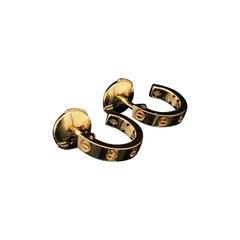 Cartier Love Earrings 18 Karat Rose Gold