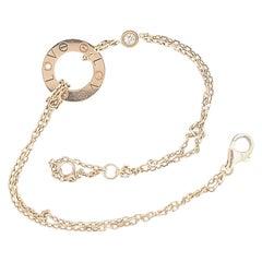 Cartier Love Gold Diamond Circle Charm Bracelet