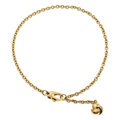 Cartier Love Knot Three Tone 18k Gold Dangling Charm Bracelet