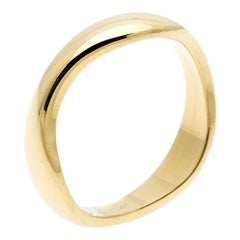 Cartier Love Me 18k Yellow Gold Band Ring Size 54