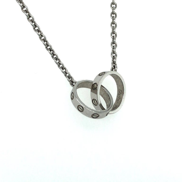 Contemporary Cartier Love Necklace in 18 Karat White Gold For Sale
