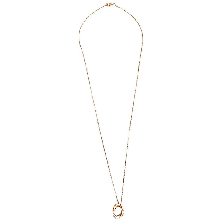 Cartier Love Necklace in 18k Pink Gold Metal For Sale