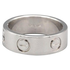 Cartier Love Platinum Band Ring Euro