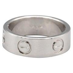 Cartier Love Platinum Band Ring Euro