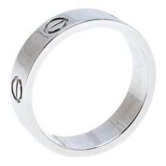 Cartier Love Platinum Band Ring Size 61