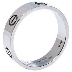 Cartier Love Platinum Band Ring Size 62