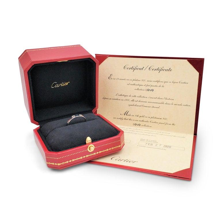 Cartier 'Love' Platinum Wedding Band For Sale 2