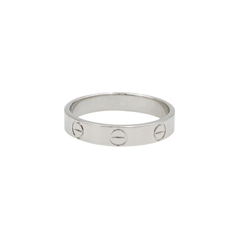 Cartier 'Love' Platinum Wedding Band For Sale