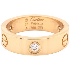 Cartier Love Ring 3 Diamond Yellow Gold
