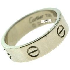 Cartier Love Ring in 18 Karat White Gold, Euro