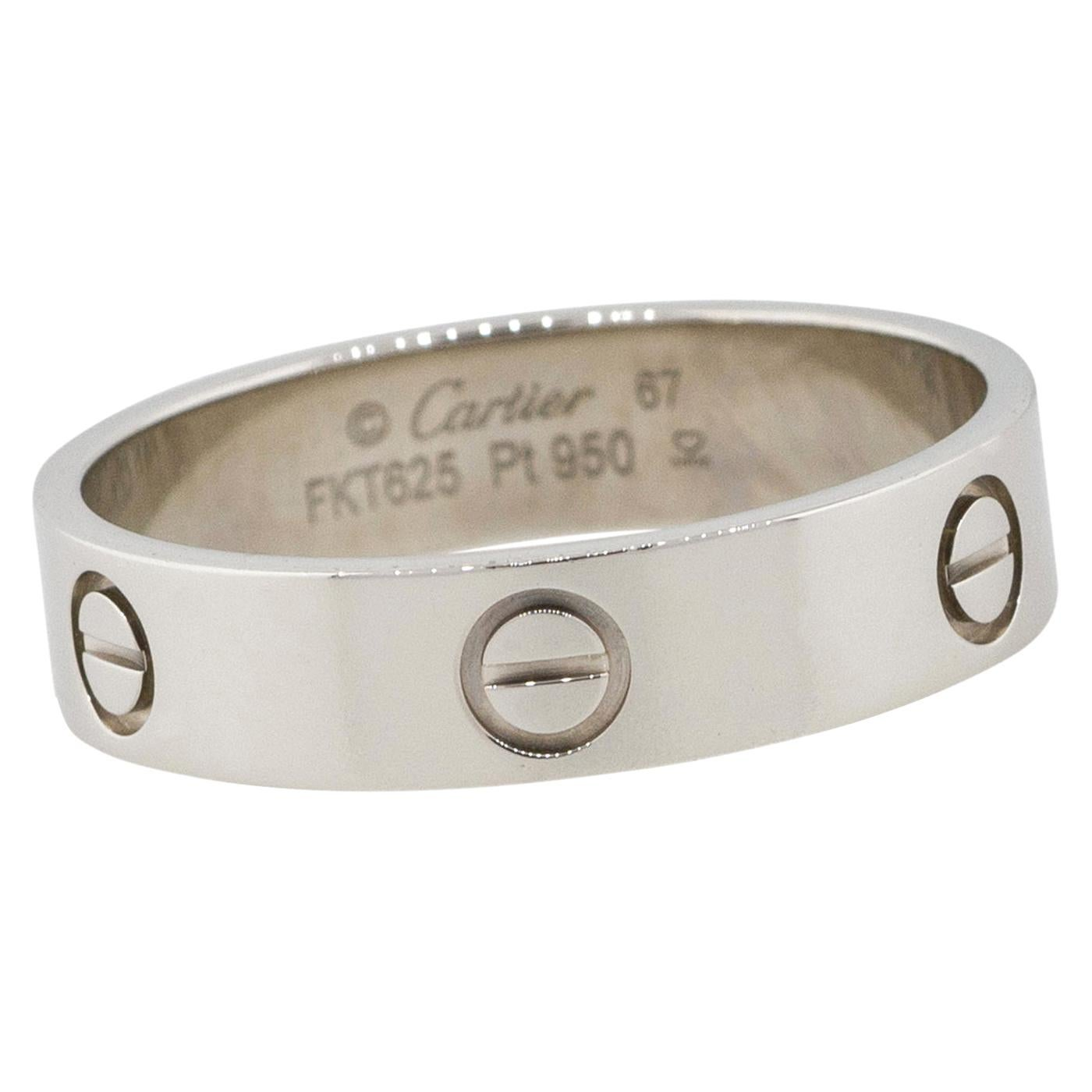 Cartier Love Ring Platinum