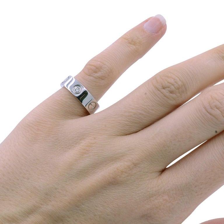 dda985ad1daca Cartier Love Ring Three Diamonds EU 49 0.22 Carat 8g