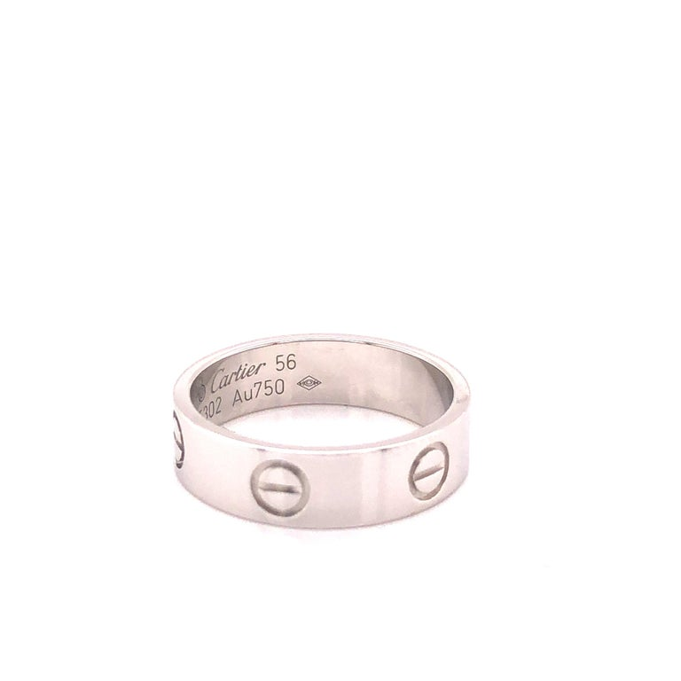 Modern Cartier Love Ring White Gold For Sale