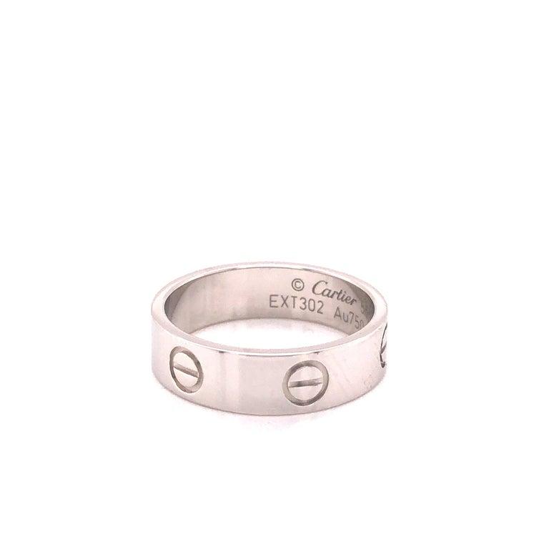 Cartier Love Ring White Gold In New Condition For Sale In MIAMI, FL