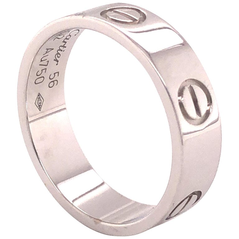 Cartier Love Ring White Gold For Sale