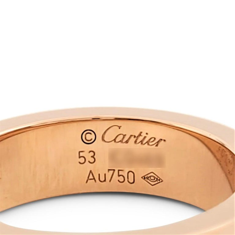 Women's or Men's Cartier 'Love' Rose Gold and Pink Sapphire Ring For Sale