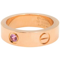 Cartier 'Love' Rose Gold and Pink Sapphire Ring
