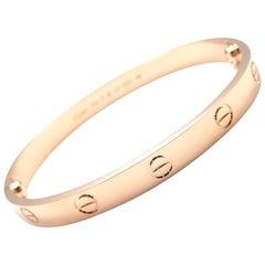 Cartier Love Rose Gold Bangle Bracelet New Screw System