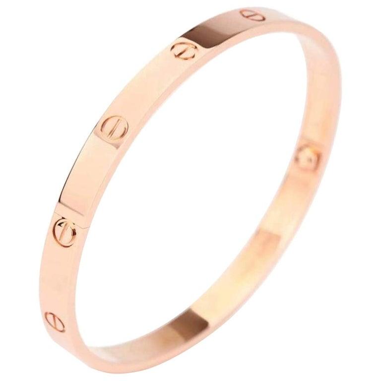 Cartier Love Rose Gold Bracelet B6035600 Size 16