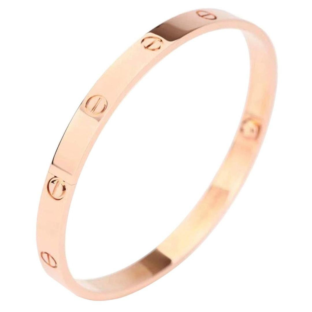 Cartier Love Rose Gold Bracelet B6035600 with Box and Paper