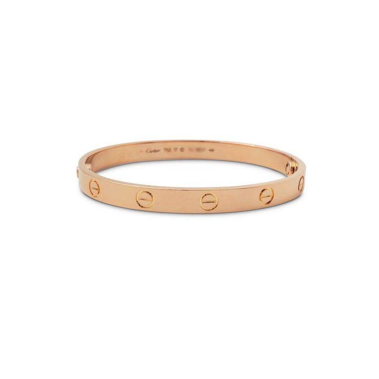 Women's or Men's Cartier 'Love' Rose Gold Bracelet