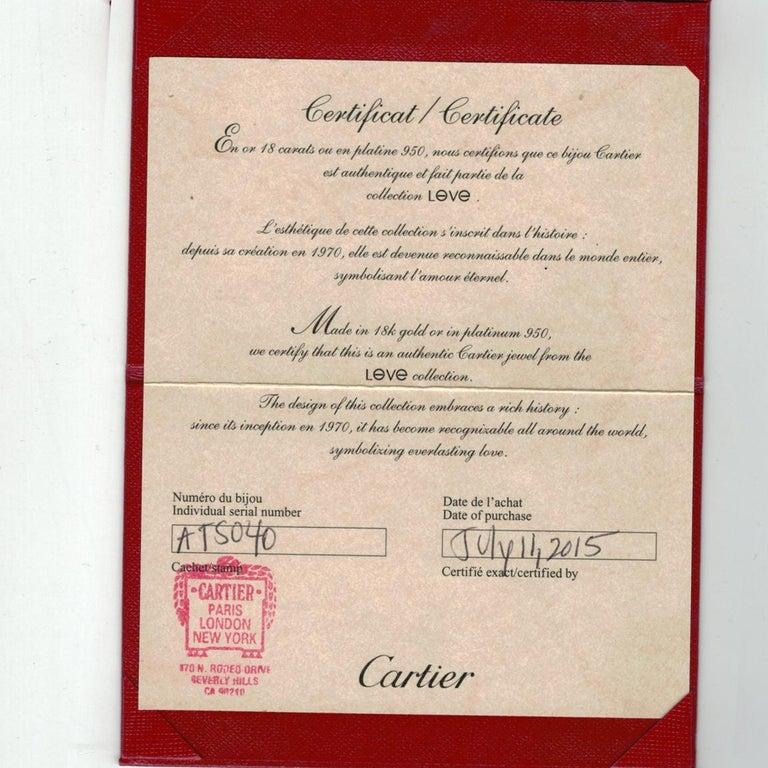Women's or Men's Cartier Love Rose Gold Bracelet For Sale