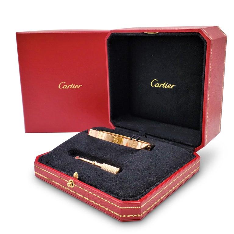 Cartier 'Love' Rose Gold Bracelet For Sale 2
