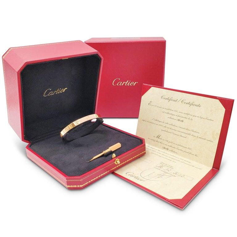Cartier 'Love' Rose Gold Bracelet 3