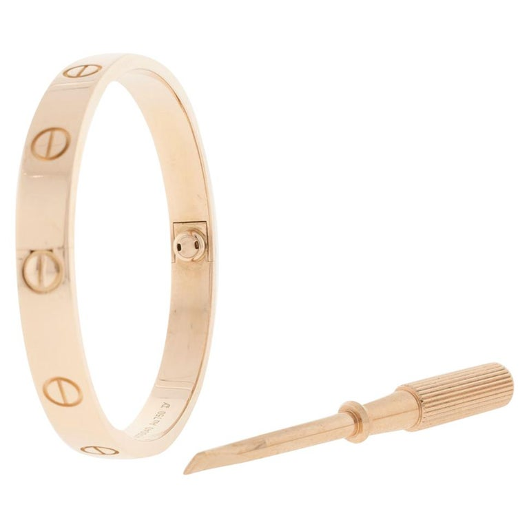Cartier Love Rose Gold Bracelet For Sale