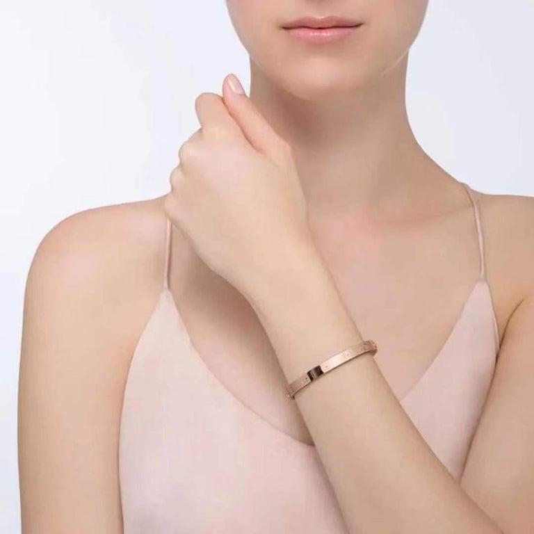 Cartier Love Rose Gold Bracelet B6035600 Size 16 2