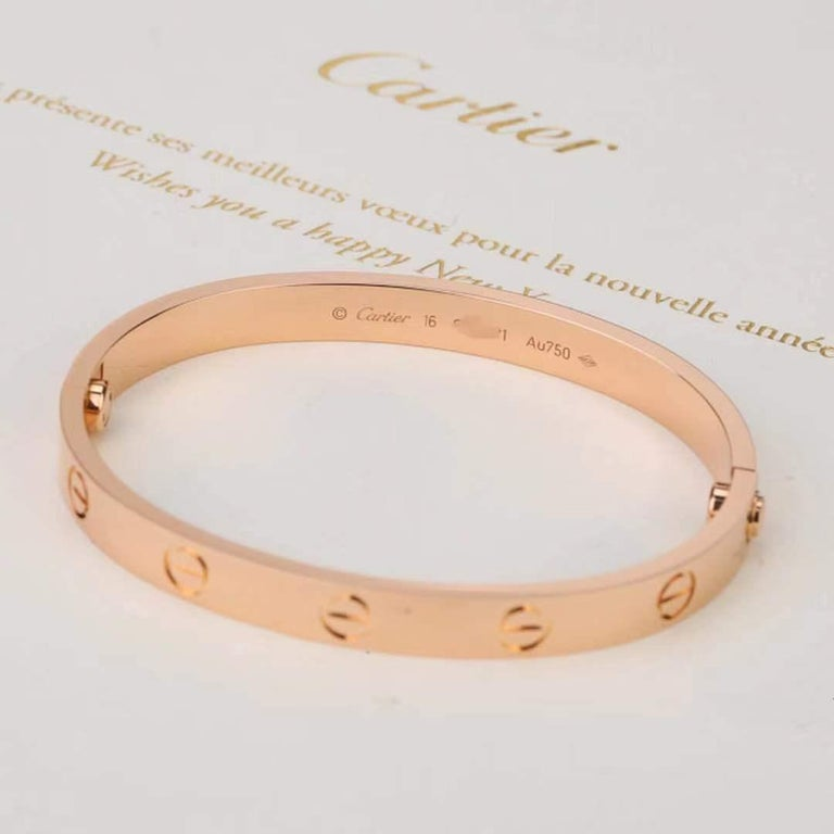 Cartier Love Rose Gold Bracelet B6035600 Size 16 3