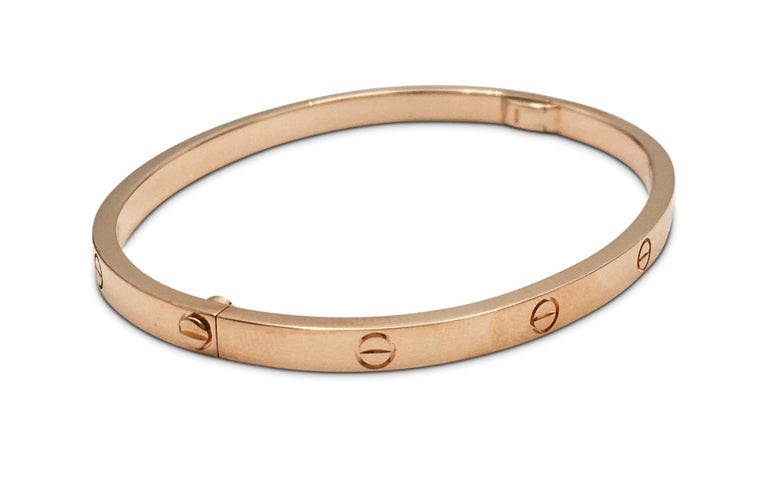 Cartier 'Love' Rose Gold Bracelet, SM In Excellent Condition For Sale In New York, NY