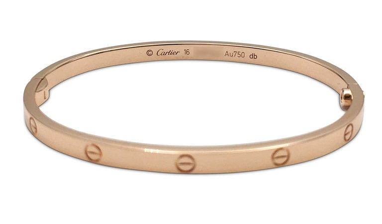 Women's or Men's Cartier 'Love' Rose Gold Bracelet, SM For Sale