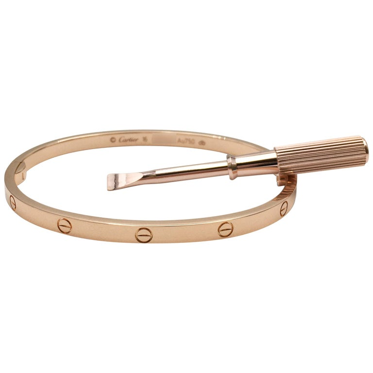Cartier 'Love' Rose Gold Bracelet, SM For Sale
