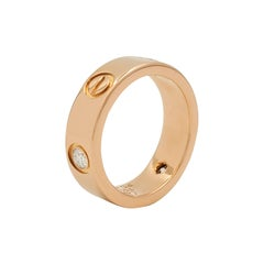 Cartier 'Love' Rose Gold Three-Diamond Ring