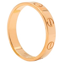 Cartier 'Love' Rose Gold Wedding Band