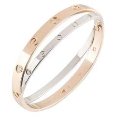 Cartier Love Rose & White Gold Diamond Bracelet N6039116