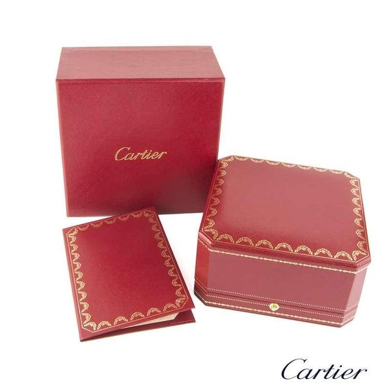 Women's or Men's Cartier Rose and White Gold Diamond Double Love Bracelet
