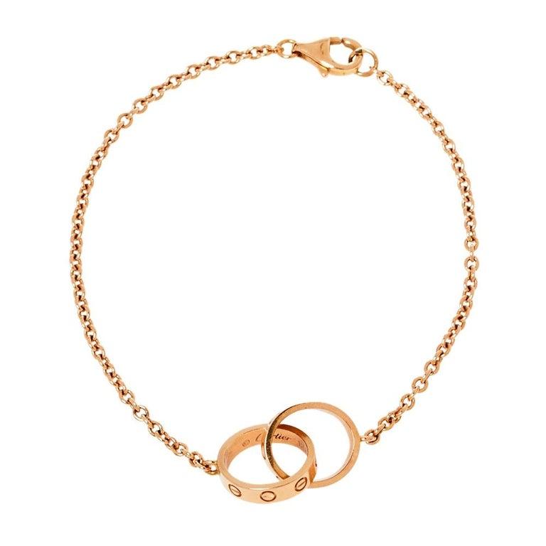 Cartier Love Screw Motif 18K Rose Gold Bracelet For Sale