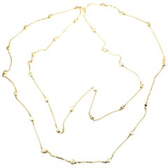 Cartier Love Screws Station Long Yellow Gold Chain Necklace