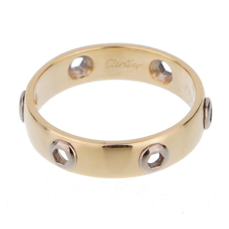 Cartier Love Series Yellow Gold Band Ring In Excellent Condition For Sale In Feasterville, PA