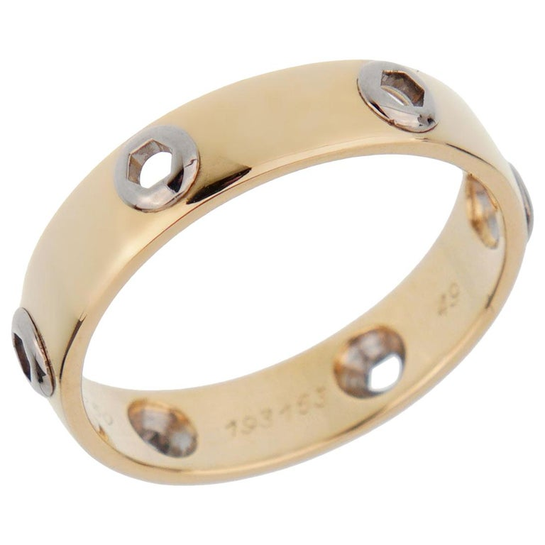 Cartier Love Series Yellow Gold Band Ring For Sale
