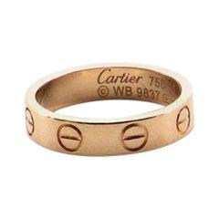 Cartier Love Wedding Band Ring 18 Karat Rose Gold 3.25 - 45