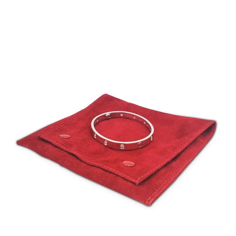 Cartier 'Love' White Gold 10-Diamond Bracelet For Sale 1