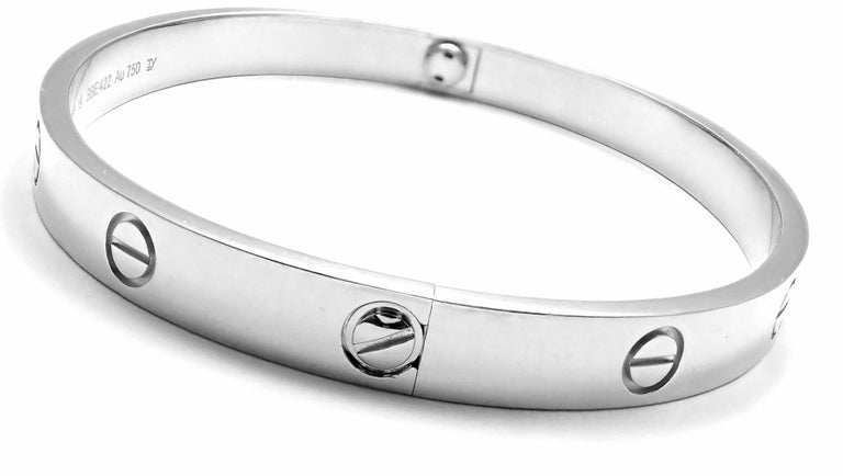 Cartier Love White Gold Bangle Bracelet In New Condition For Sale In Southampton, PA